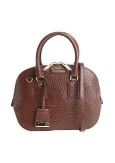 Burberry brown leather convertible crossbody bag