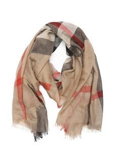 Burberry camel half mega check cashmere scarf
