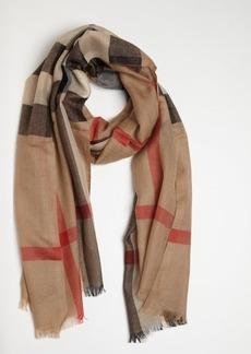 Burberry camel nova check cashmere scarf
