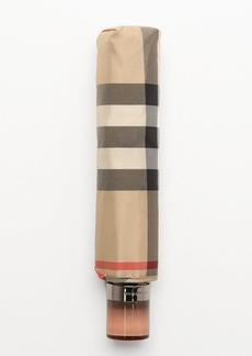 Burberry camel nova check 'Trafalger' compact umbrella
