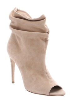 Burberry camel suede 'Burlison' peep toe ankle booties