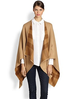 Burberry Charlotte Check-Lined Wool Wrap