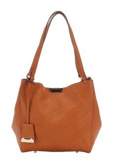 Burberry copper orange check calfskin small 'Canterbury' tote bag