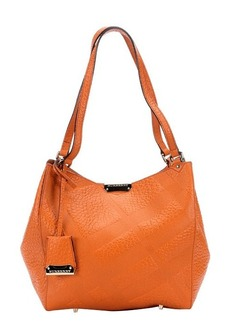 Burberry copper orange check embossed calfskin 'Canterbury' tote bag