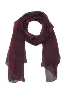 Burberry deep claret nova check print silk chiffon scarf