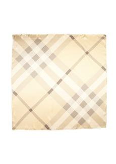 Burberry gold silk nova check pattern scarf