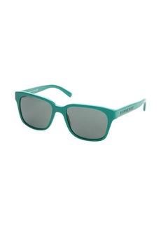 Burberry green acrylic rectangle wayfarer sunglasses