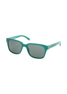 Burberry green acrylic rectangle wayfarer sunglasses