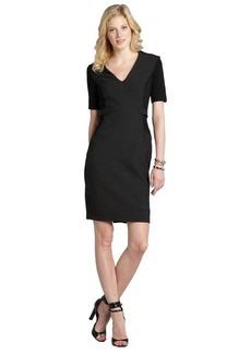 Burberry grey melange stretch cotton blend short sleeve dress
