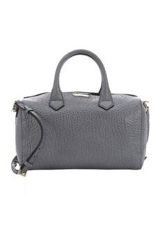 Burberry grey pebbled calfskin medium 'Alchester' convertible bowling bag
