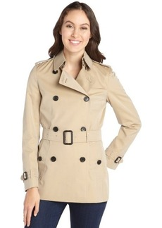 Burberry honey double-breasted trench coat