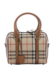 Burberry honey house check small 'Alchester' convertible bowling bag