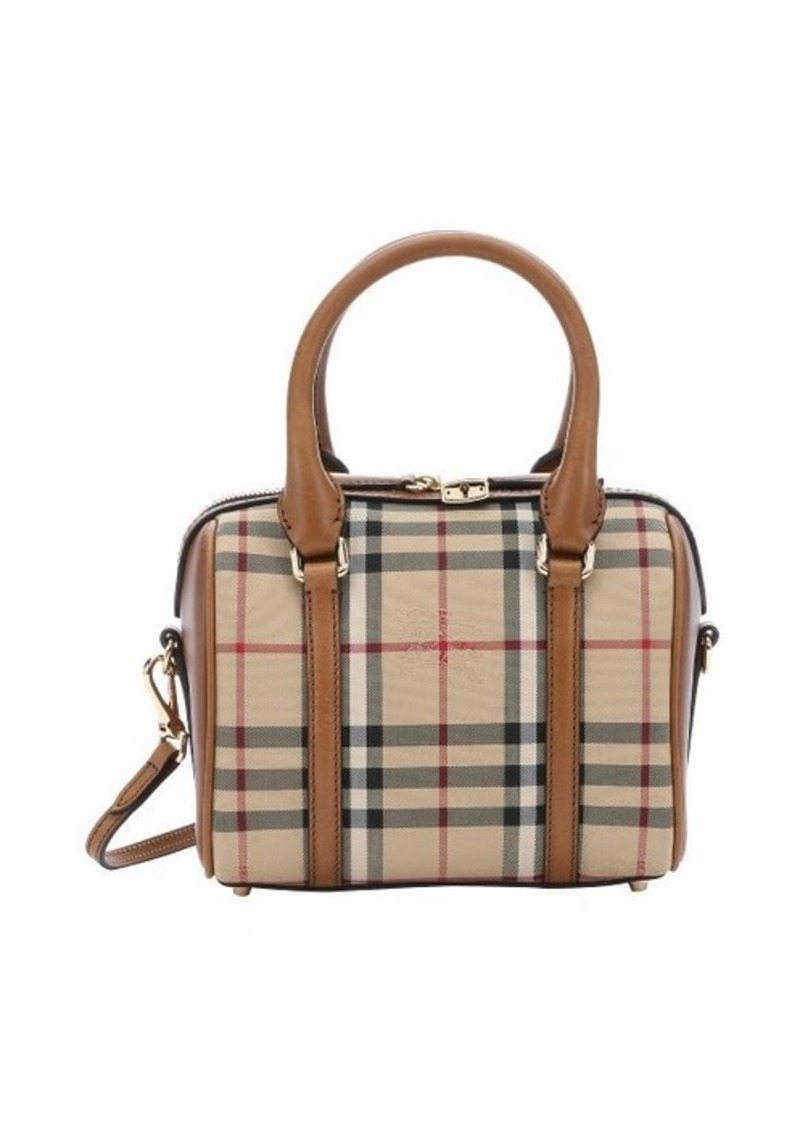 burberry burberry honey leather and canvas 39 alchester 39 small bowling bag sizes all sizes. Black Bedroom Furniture Sets. Home Design Ideas