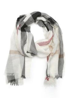 Burberry ivory half mega check cashmere scarf