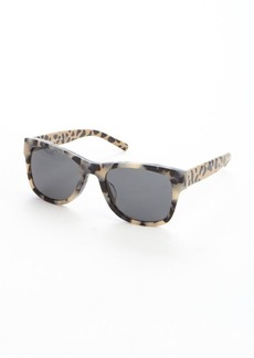 Burberry khaki and black acrylic leopard pattern wayfarer sunglasses