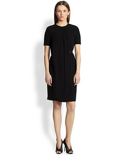 Burberry London Bethy B Flap Crepe Sheath Dress