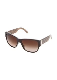 Burberry London brown haymarket check square sunglasses