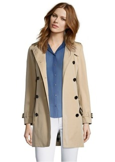 Burberry London cotton twill double breasted trench coat