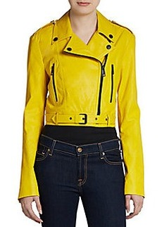 Burberry London Cropped Leather Jacket