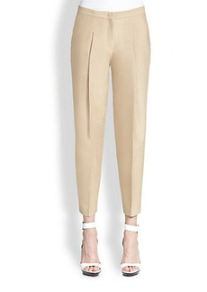 Burberry London Cropped Pleat-Front Pants