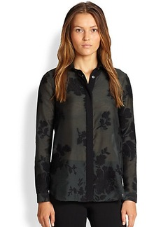 Burberry London Fil Coupé Blouse