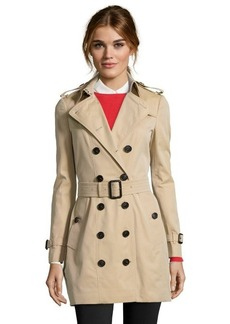 Burberry London honey cotton 'Berryford' double breasted trench coat