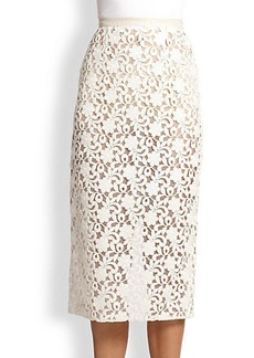 Burberry London Lace Pencil Skirt