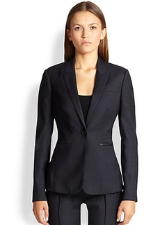 Burberry London Leather-Trimmed Fathingstone Jacket