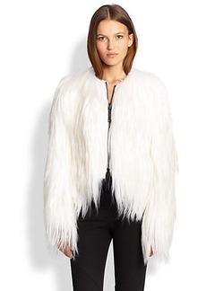 Burberry London Lushington Goat-Fur Jacket