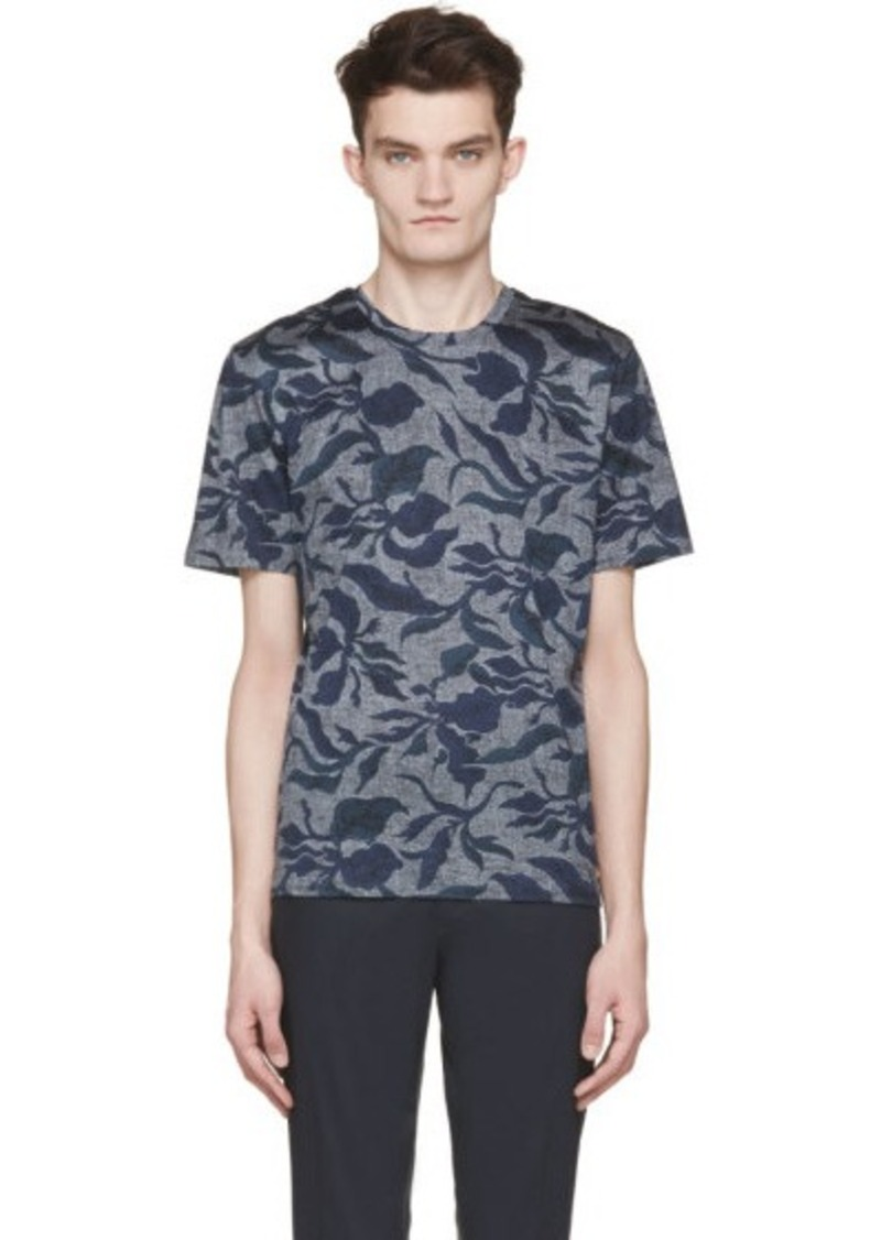 Burberry burberry london navy leaf print t shirt sizes m for Shirt printing places near me