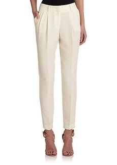 Burberry London Pleat-Front Silk Pants