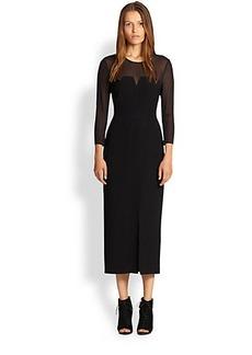 Burberry London Wendy Silk Illusion Dress
