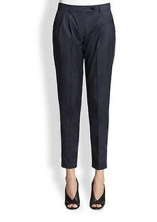 Burberry London Wistow Wool/Silk Cropped Pants