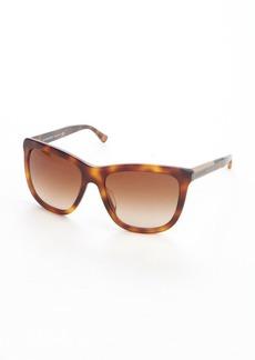 Burberry mahogany acrylic wood accent cat eye sunglasses