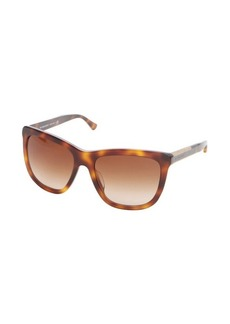 Burberry mahogany acrylic wood accent cat eye sunglasses