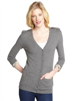 Burberry mid grey cashmere cardigan