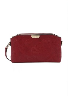 Burberry military red check embossed calfskin small 'Chichester' convertible shoulder bag