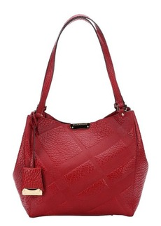 Burberry military red check leather 'Canterbury' small shoulder bag