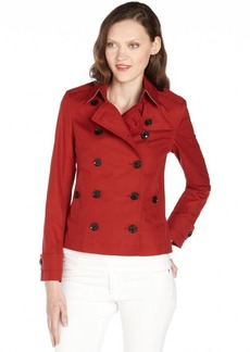 Burberry military red cotton double breasted coat
