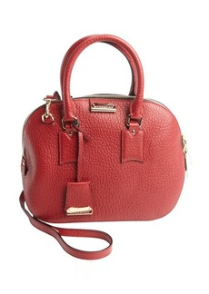 Burberry military red leather convertible crossbody bag