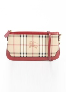 Burberry military red nova check small clutch purse
