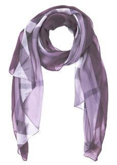 Burberry pale mauve nova check print silk chiffon scarf