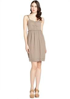 Burberry pale taupe crepe sleeveless dress