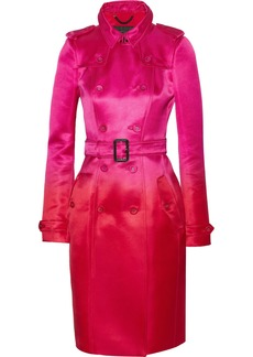 Burberry Prorsum Belted silk-satin trench coat