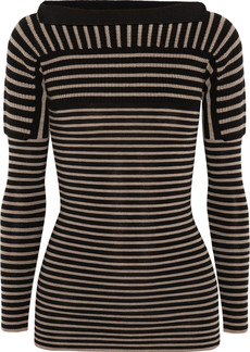 Burberry Prorsum Contrast-knit striped wool sweater