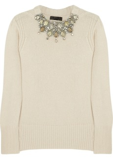 Burberry Prorsum Crystal-embellished cashmere sweater