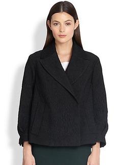 Burberry Prorsum Gathered-Sleeve Brocade Jacket