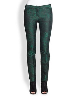 Burberry Prorsum Jacquard Slim-Fit Pants