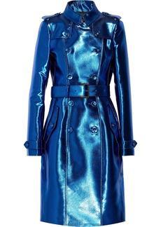 Burberry Prorsum Metallic gabardine trench coat