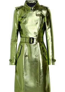 Burberry Prorsum Metallic gabardine trench coat